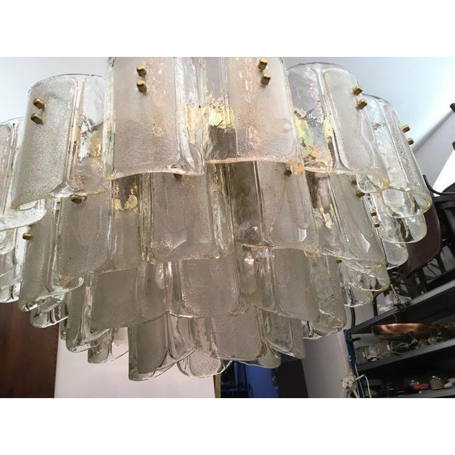 1960s Large Crystal Glass Chandelier, 1960s For Sale - Image 5 of 11