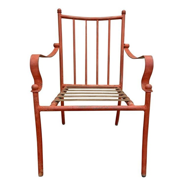 Set of Four Mid-20th Century American Iron Patio Chairs For Sale - Image 4 of 12