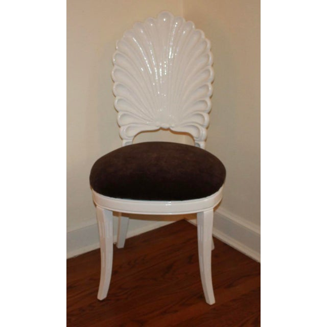 Vintage Shell Back Grotto Chair, Freshly and Professionally Lacquered For Sale - Image 9 of 9