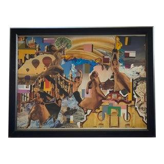 """Original """"Moving"""" Framed Collage by Lee Ten Hoeve For Sale"""
