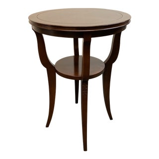 Hekman Furniture Dark Wood Finish Two Level Side Table For Sale