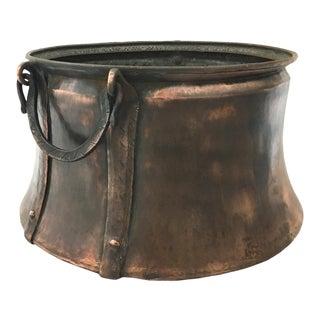 Hand-Hammered Vintage Trabzon Copper Cauldron For Sale