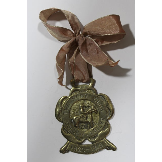 English Pony Club Jubilee Horse Brass Ornament - Image 2 of 3