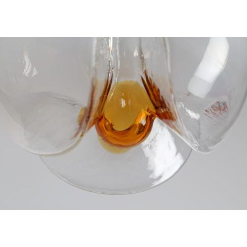 Italian 1970's vintage MAZZEGA GLASS PENDANTS- a pair For Sale - Image 3 of 7