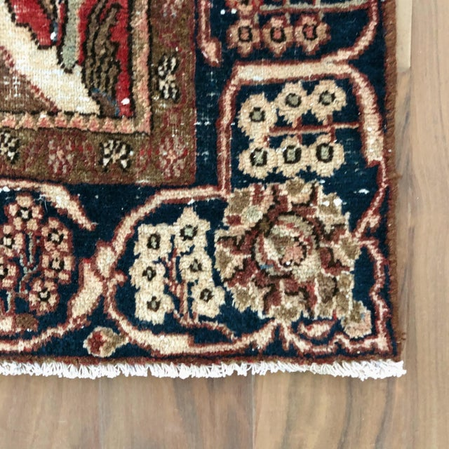 1930s Middle Eastern 1930s Hand Knotted Wool Rug For Sale - Image 5 of 10