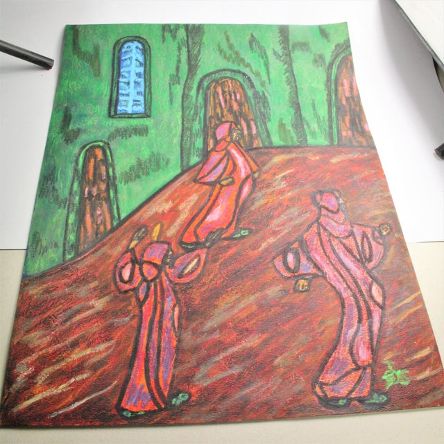 Anthony Joseph Salvatore Outsider Artist Original Symbolist Expressionist Drawing For Sale In New York - Image 6 of 6