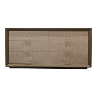 6-Drawer Wood and Linen Dresser For Sale