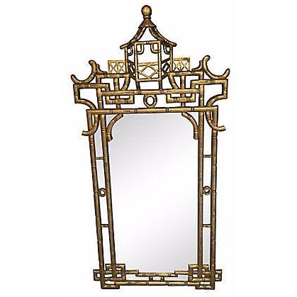 Faux-Bamboo Gilt Mirror For Sale
