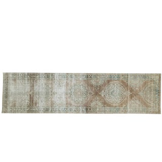 "Antique Distressed Kerman Rug Runner - 2'9"" X 10'9"""