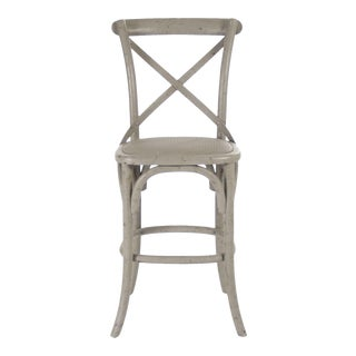 Somer Parisienne Cafe Counter Stool in Olive For Sale