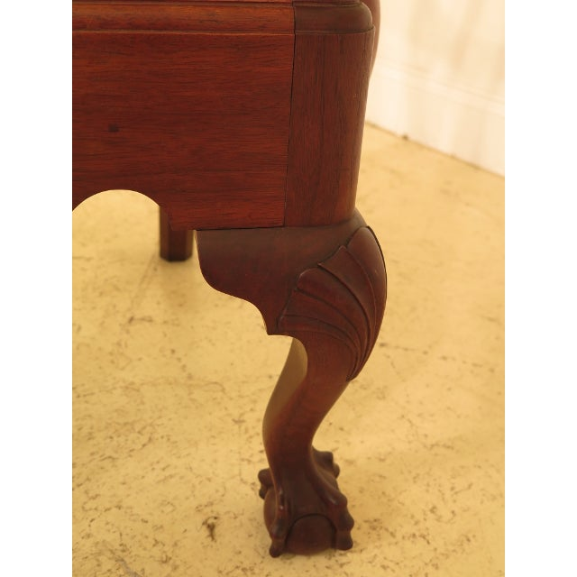 1950s Bench Made Hand Crafted Chippendale Walnut Armchair For Sale In Philadelphia - Image 6 of 13