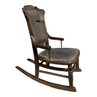 19th Century Antique Child's Rocking Chair For Sale