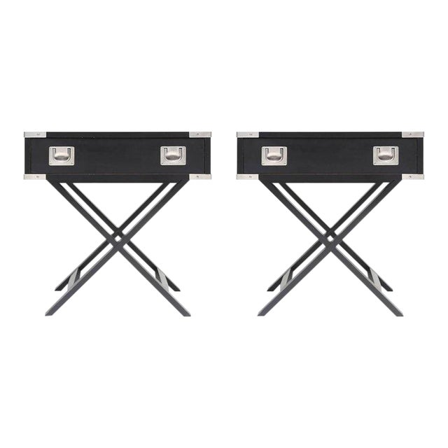 Director Style Side Tables For Sale