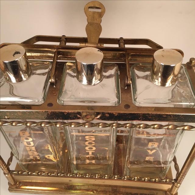Bourbon Scotch Rye Bar Caddy Liquor Decanters - Image 6 of 6