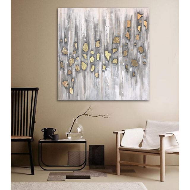 'Midas' Original Abstract Painting by Linnea Heide For Sale - Image 4 of 10