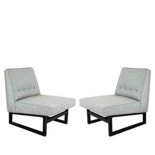 Pair of Dunbar Slipper Chairs by Edward Wormley Model 9611 For Sale