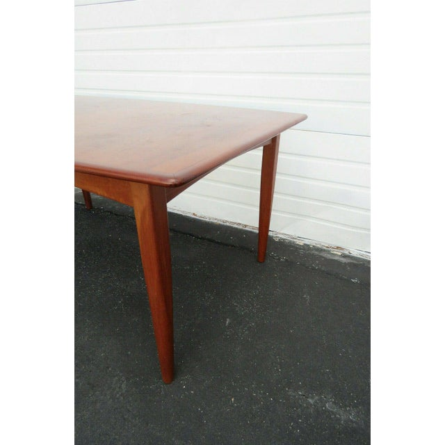 Brown Danish Modern Butterfly Leaf Dining Table Made by Falster For Sale - Image 8 of 11