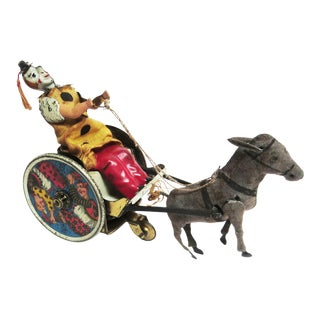 "Lehmann Litho Tin Wind Up Toy Clown and ""Balky Mule"" For Sale"
