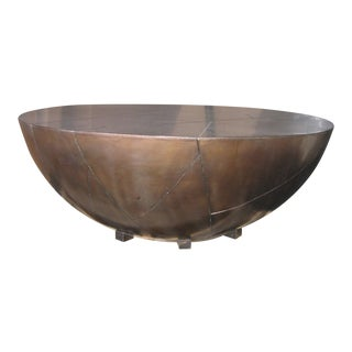 Tribal Delano Drum Brass Coffee Table For Sale