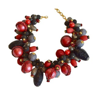 Francoise Montague Red Glass Necklace For Sale