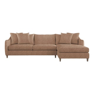 Bernhardt x Chairish Joli Two-Piece Sectional, Persimmon Boucle For Sale