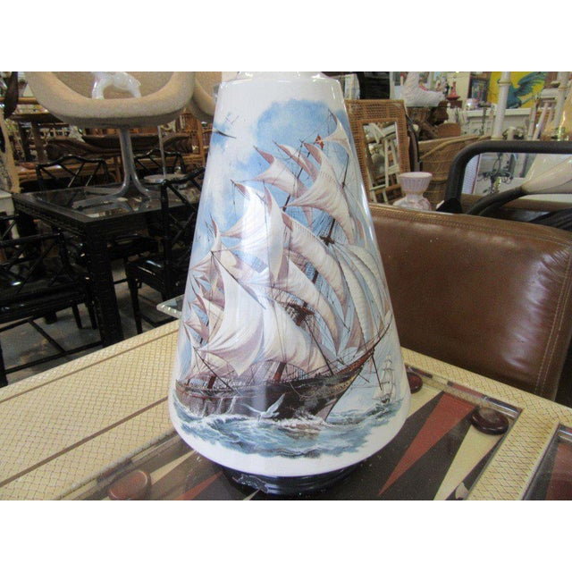 Hand Painted Ship Lamp - Image 6 of 9