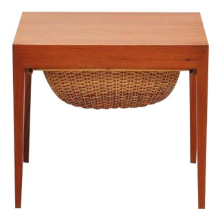 Severin Hansen Sewing Table by Haslev Denmark, 1955