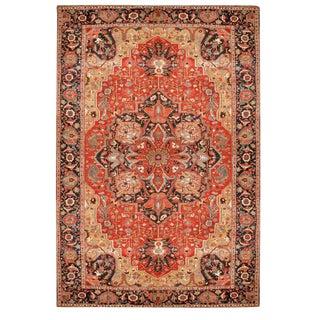 Antique Oversize 19th Century Persian Serapi Carpet For Sale