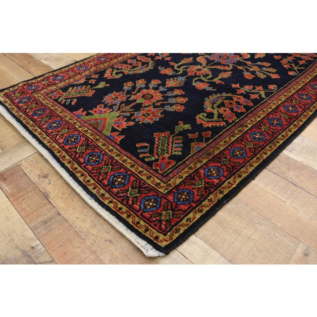 Textile Antique Persian Malayer Rug Runner With Mina Khani - 3'5 X 16'4 For Sale - Image 7 of 10