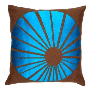 Mid-Century Inspired Op Art Pillow For Sale