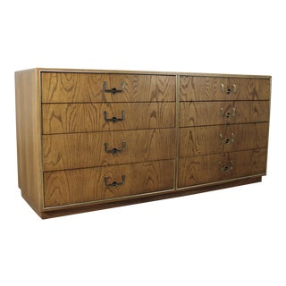 Founders Furniture Vintage Mid-Century Campaign Style Dresser For Sale