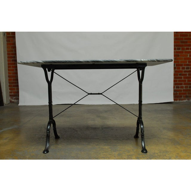 French Marble Bistro Table - Image 2 of 7