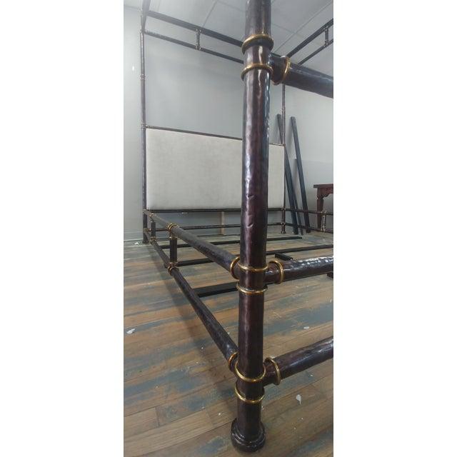 Henredon Furniture Jeffrey Bilhuber Hammered Metal Bank St Queen Canopy Bed For Sale In Charlotte - Image 6 of 12