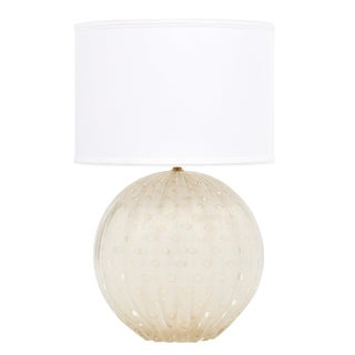 "Gold Flecked ""Pulegoso"" Murano Glass Globe Lamp For Sale"