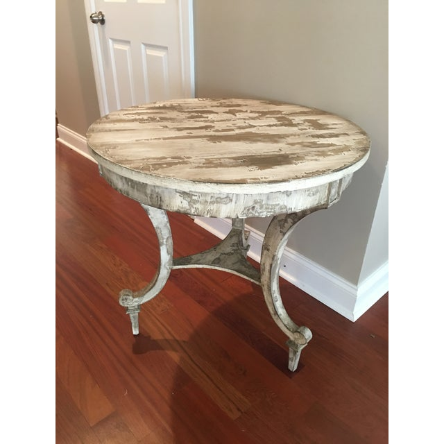 David Latesta Custom Hand Finished White Rustic Table For Sale - Image 4 of 10