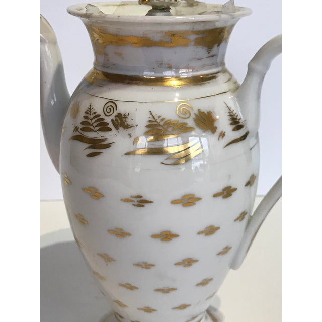 Vintage French Old Paris Coffee Pot For Sale - Image 4 of 6