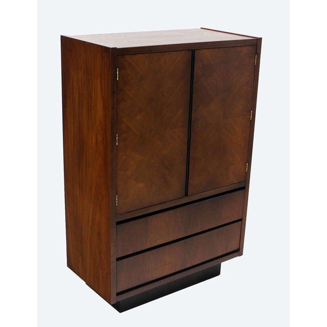 Mid-Century Modern Walnut Gentlemen's High Chest Chifferobe Armoire For Sale - Image 10 of 10