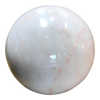 Decorative Carrara Marble Sphere, Italy For Sale