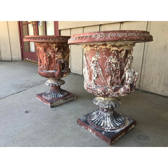 Neoclassical Late 18th Early 19th Century Italian Terra Cotta Urns - A Pair For Sale - Image 3 of 13