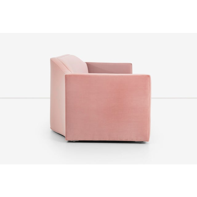 Pink 1950s Vintage Pink Ripple Sofa For Sale - Image 8 of 13