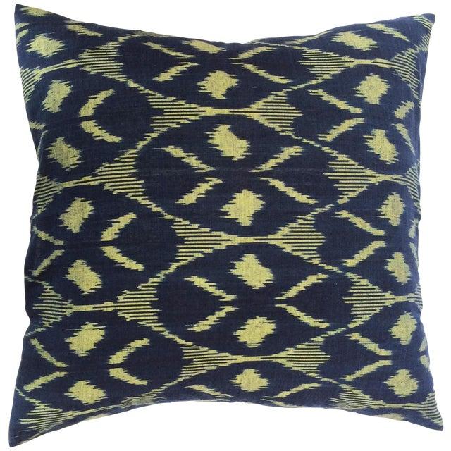 Indigo Ikat Pillow Cover - Image 1 of 3