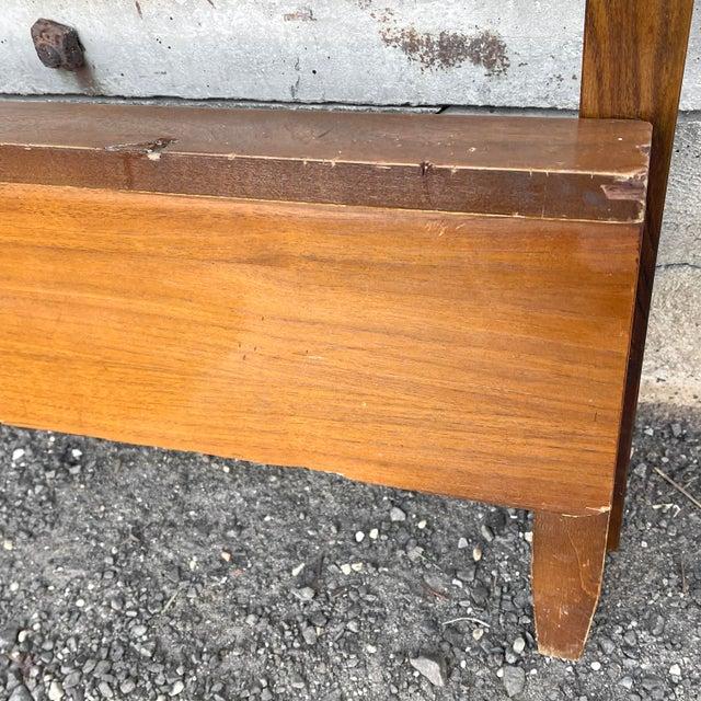 Wood Mid-Century Walnut Twin Headboard and Footboard For Sale - Image 7 of 13