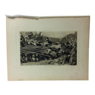 "Antique Photogravure on Paper, ""Arnold Winkelreid at Sempach"" by Konrad Grob - Circa 1860 For Sale"