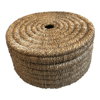 Boho Chic Made Goods Yvon Circular Natural Woven Rope Box - Small