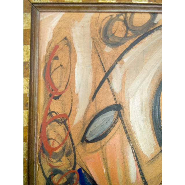 Cubism Cubist Portrait of Man and Woman Oil Painting For Sale - Image 3 of 6