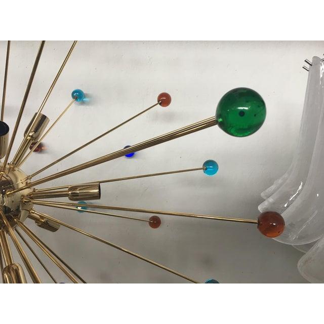 Multicolor Murano Glass Triedo Sputnik Chandelier For Sale - Image 10 of 12