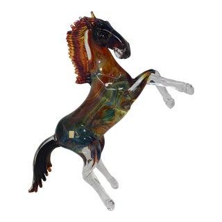 Murano Glass Horse by Oscar Zanetti For Sale