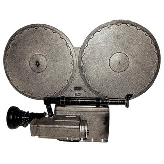 Auricon Cinema Newsreel Camera Complete and Working. Display As Sculpture. Circa 1955