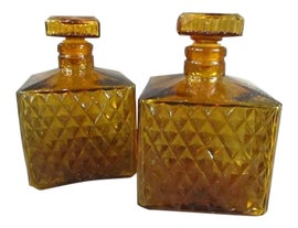 Image of Amber Carafes and Decanters