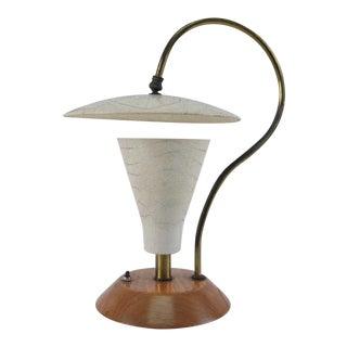 Sculptural 1950s Desk Lamp For Sale